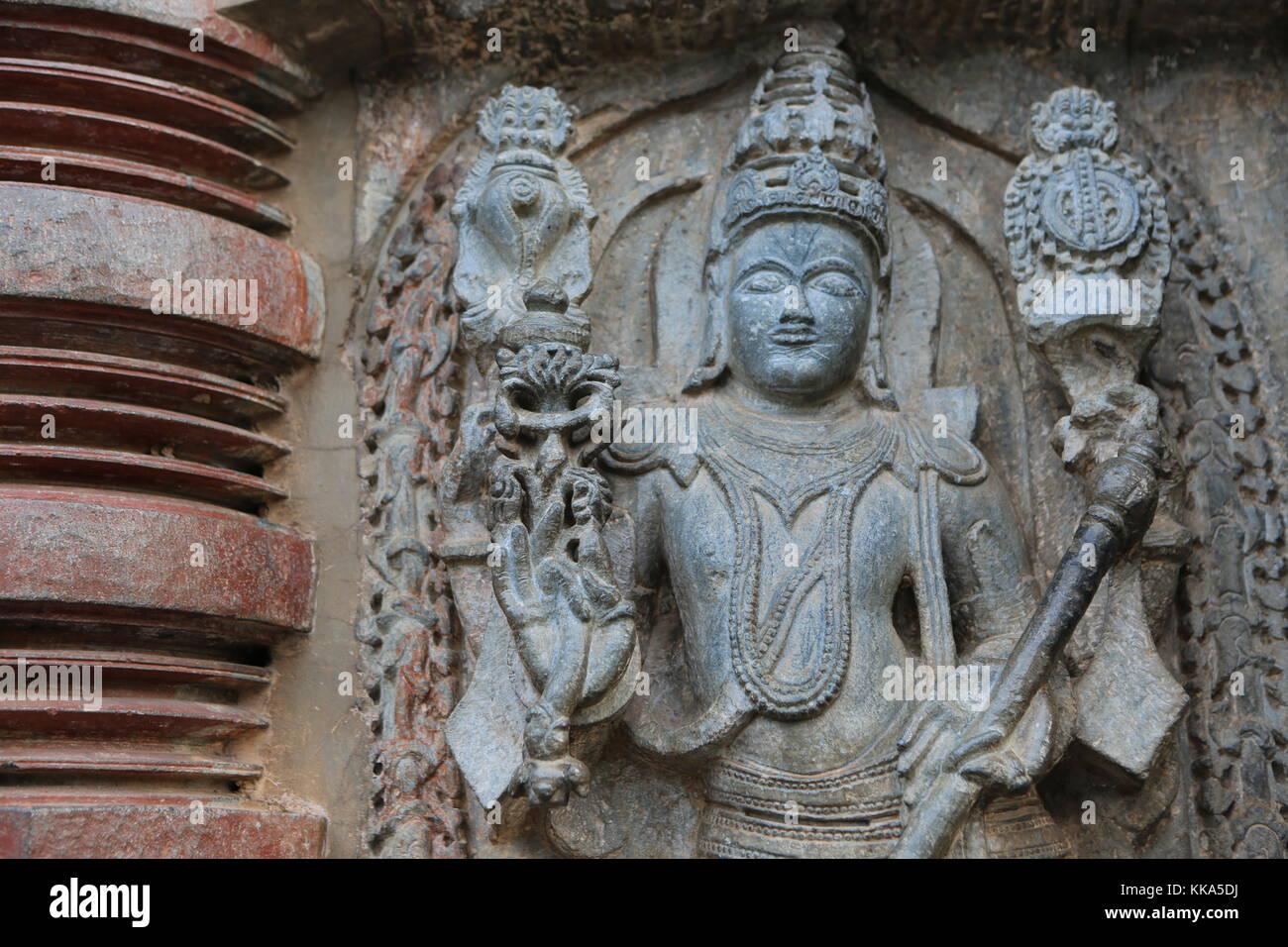 Chenna Keshava Vishnu Tempel - Belour south india Stock Photo