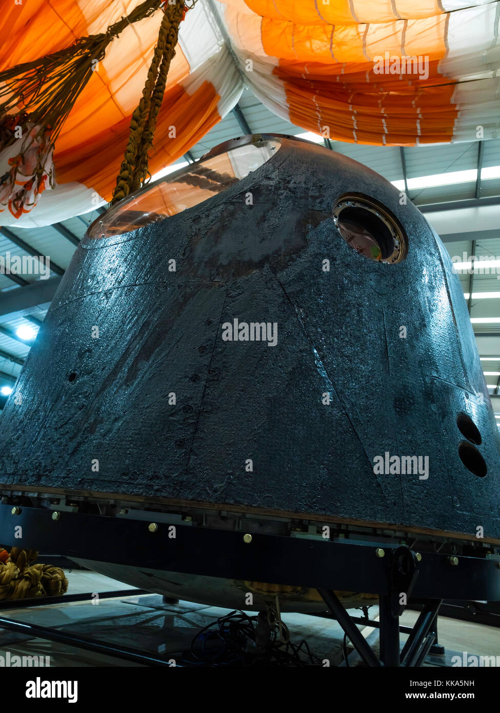 Soyuz Descent Module TMA-19M which brought  Astronaut Major Tim Peake down from International Space Station 2016, - Stock Image