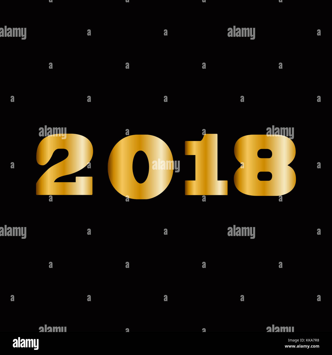 2018 happy new year golden numbers for greeting card design massive gold shining 2018