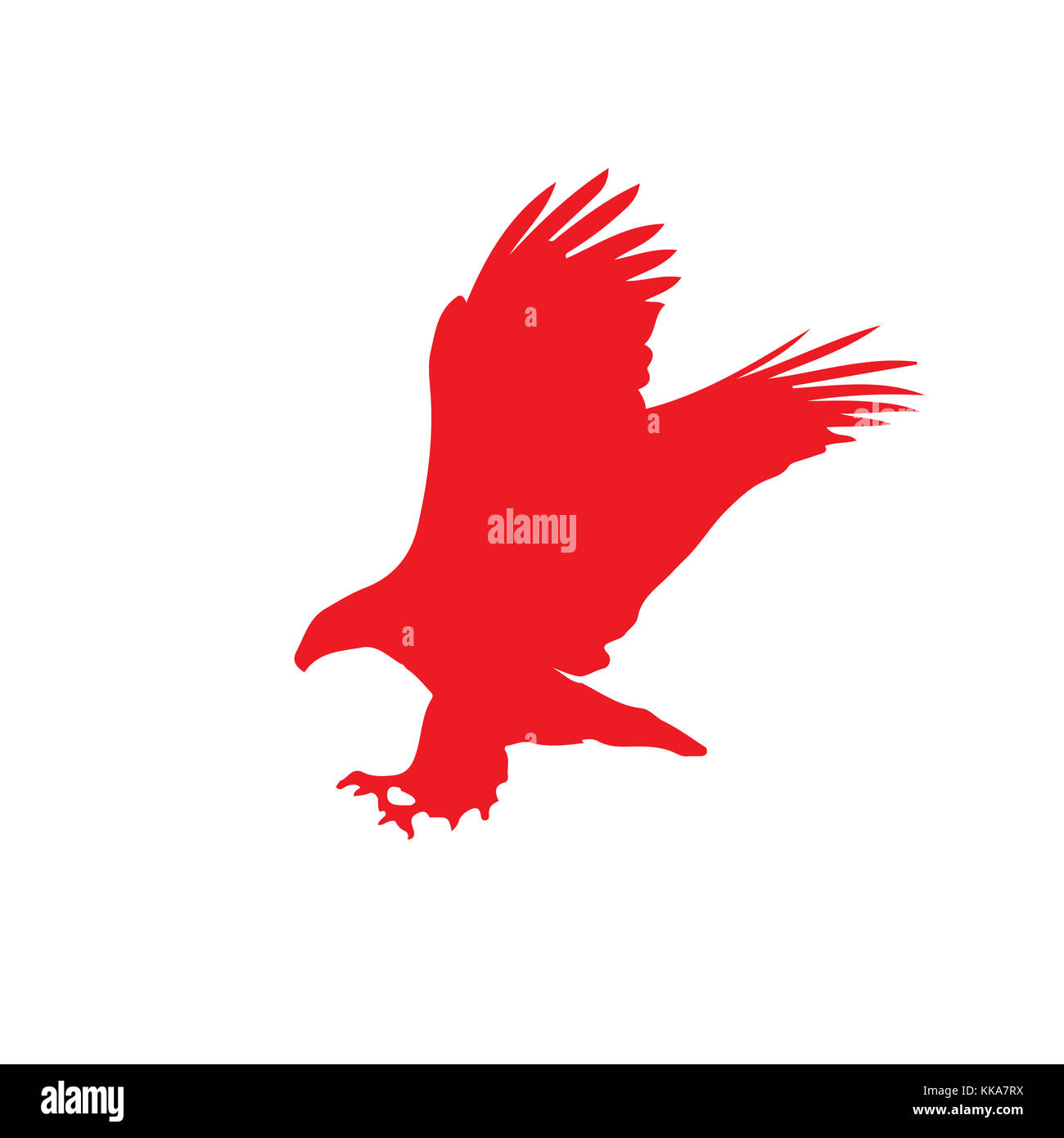 Illustration Of Eagle Flying Stock Photos & Illustration Of Eagle ...