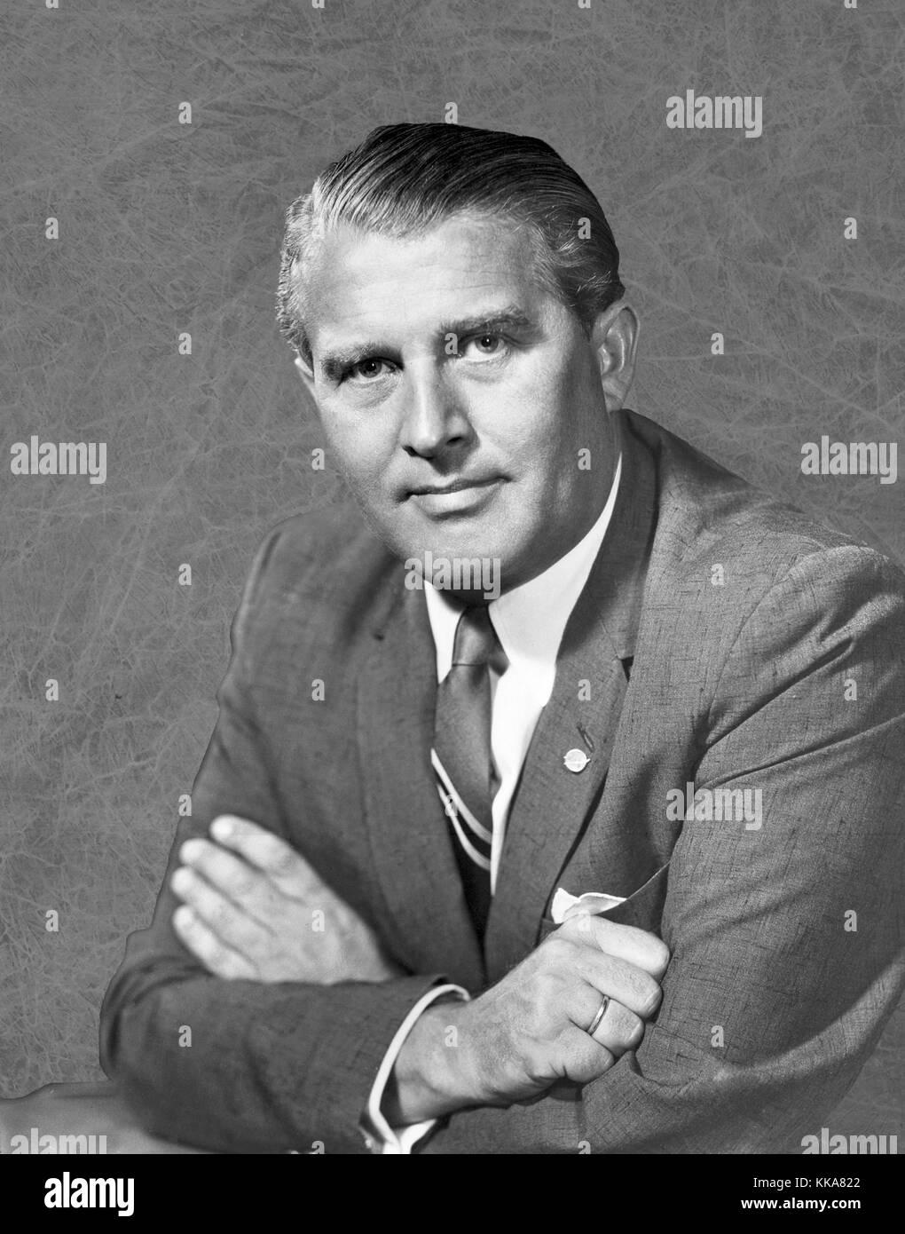 Wernher Magnus Maximilian Freiherr von Braun, Dr. Wernher von Braun, German, later American, aerospace engineer - Stock Image
