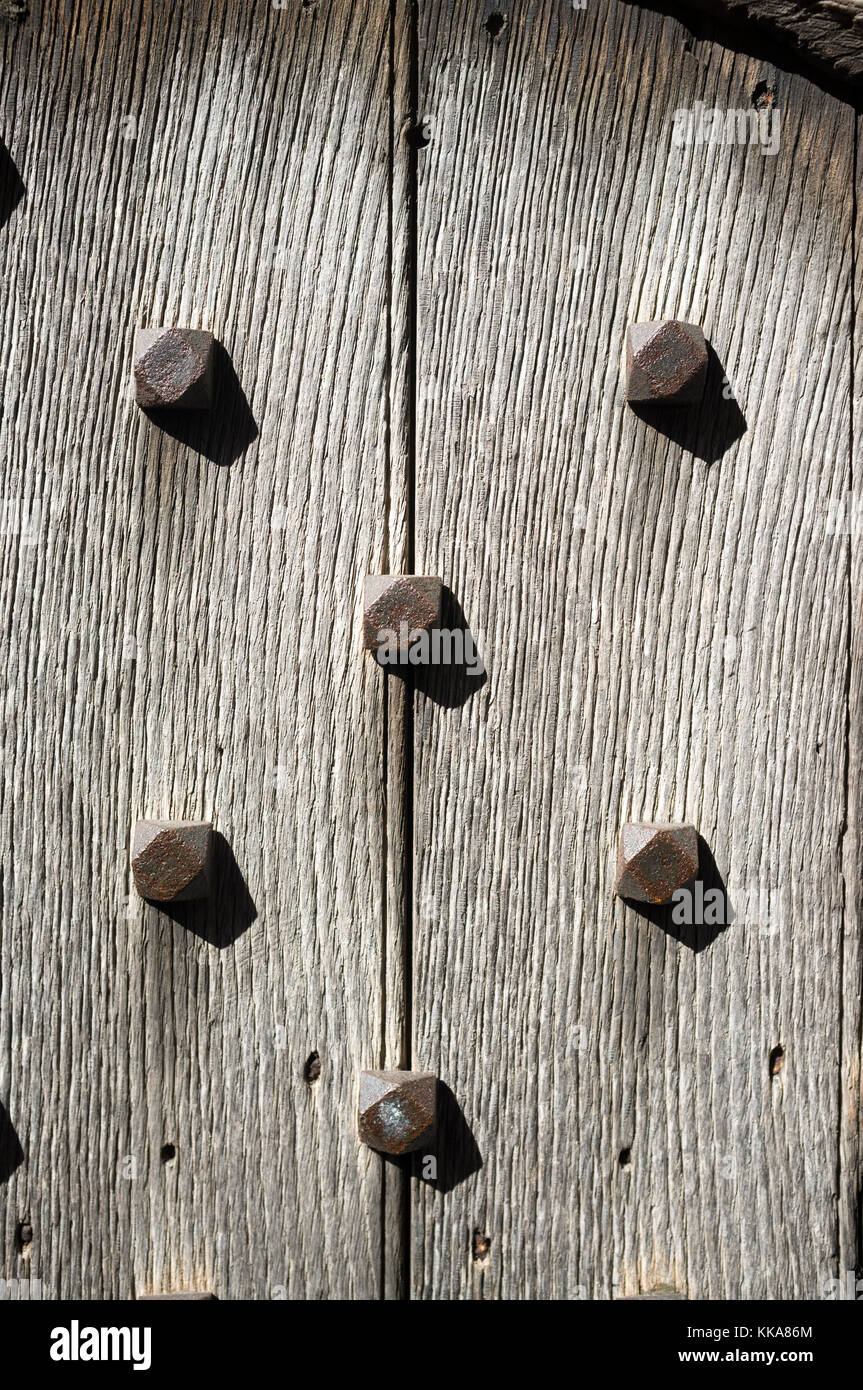 Wooden door planks with rusting bolts. A castle doorway or stately home. & Wooden door planks with rusting bolts. A castle doorway or stately ...
