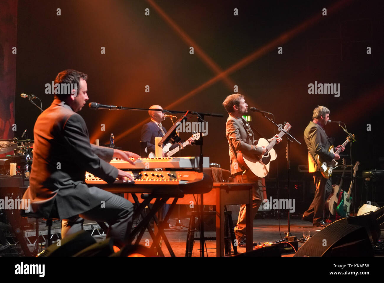 London, UK. 29th Nov, 2017. The Divine Comedy performing live on stage at the Hammersmith Apollo Eventim in London. - Stock Image