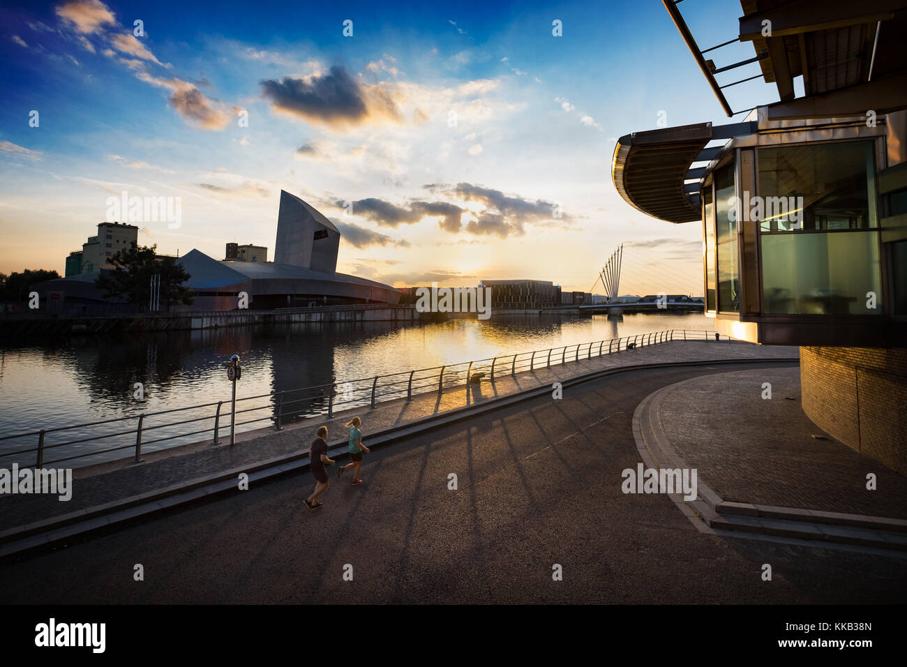 Trafford Wharf from Media City Salford Quays - Stock Image
