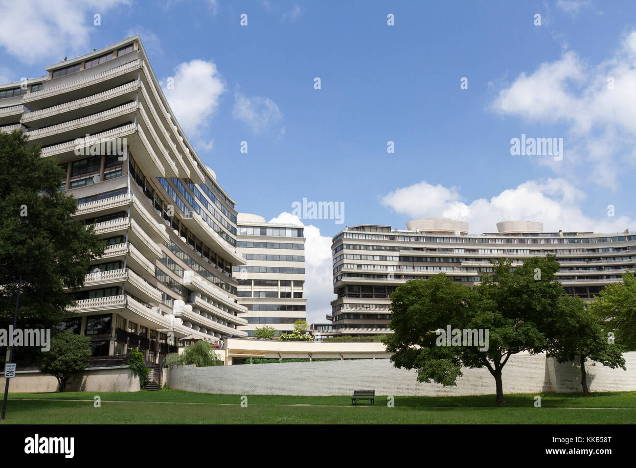 Part of the Watergate Complex, site of the Richard Nixon Watergate scandal, Foggy Bottom, Washington DC, United - Stock Image