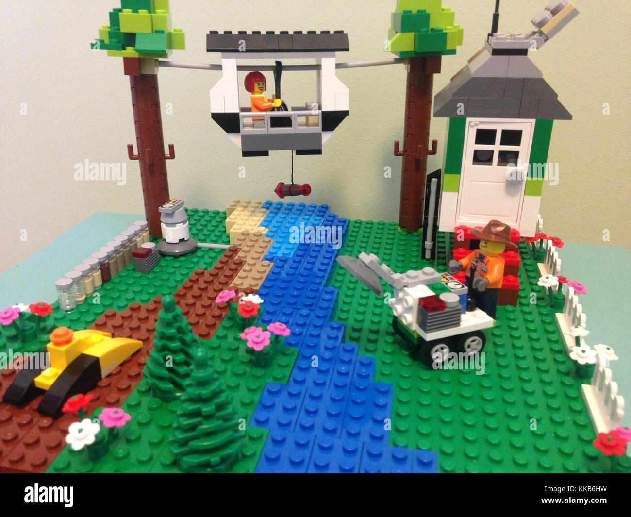 A science-based Lego Scene built by USGS Hydrologic technicians to make learning about science more fun. Image courtesy - Stock Image