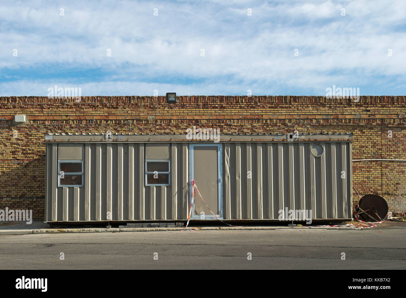 workers barrack shipping container - Stock Image