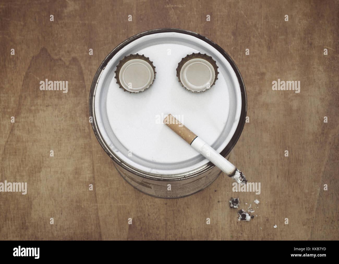 smoker imitation - Stock Image