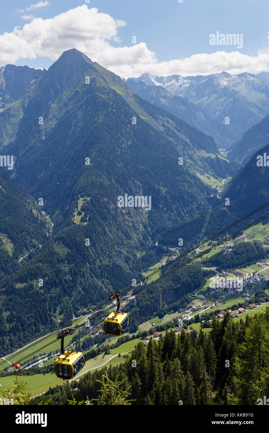 Penkenbahn (Penken cablecar), Mayrhofen, Austria - Stock Image