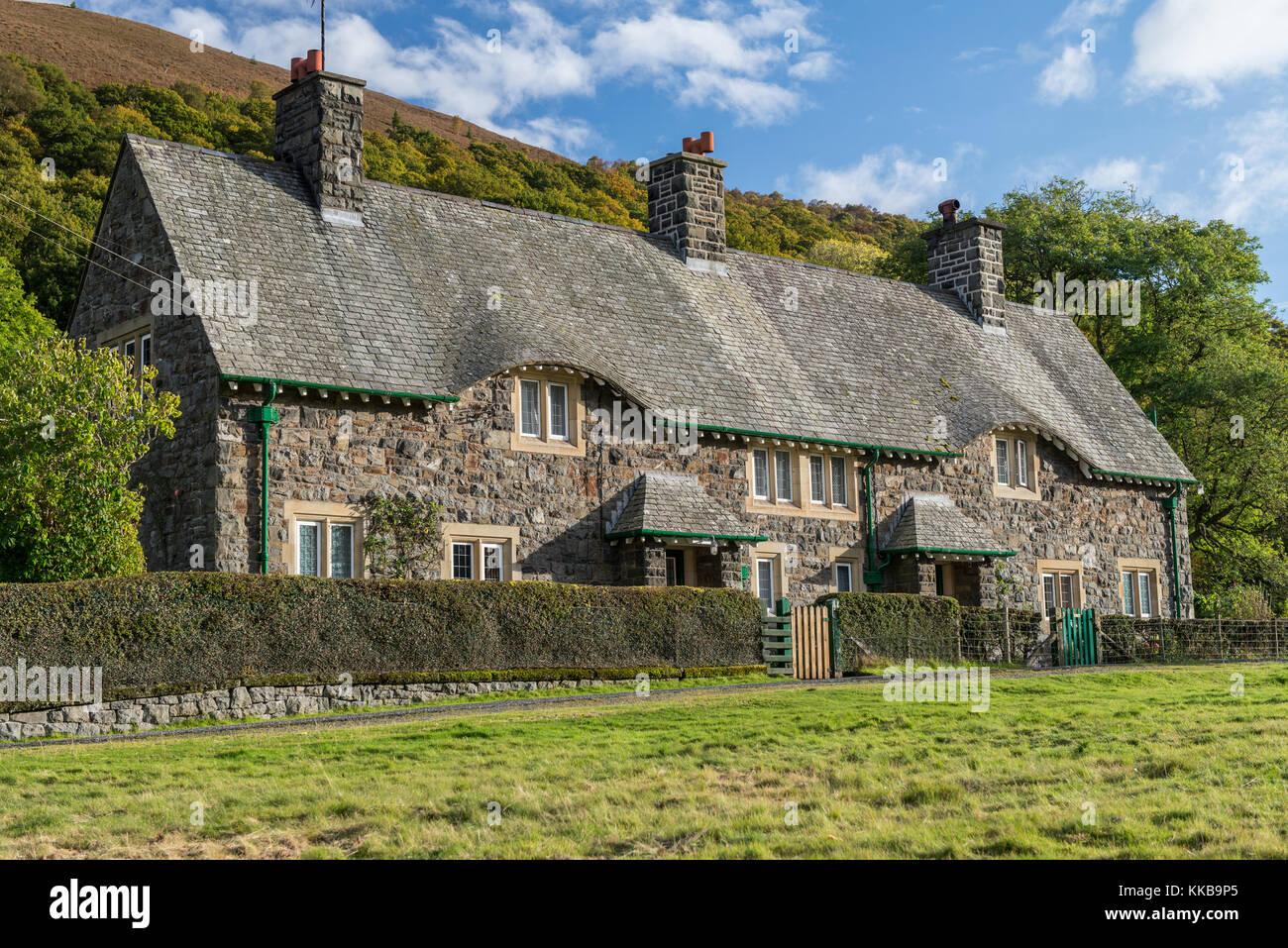 Stone Cottage Welsh Slate Roof Stock Photos Amp Stone