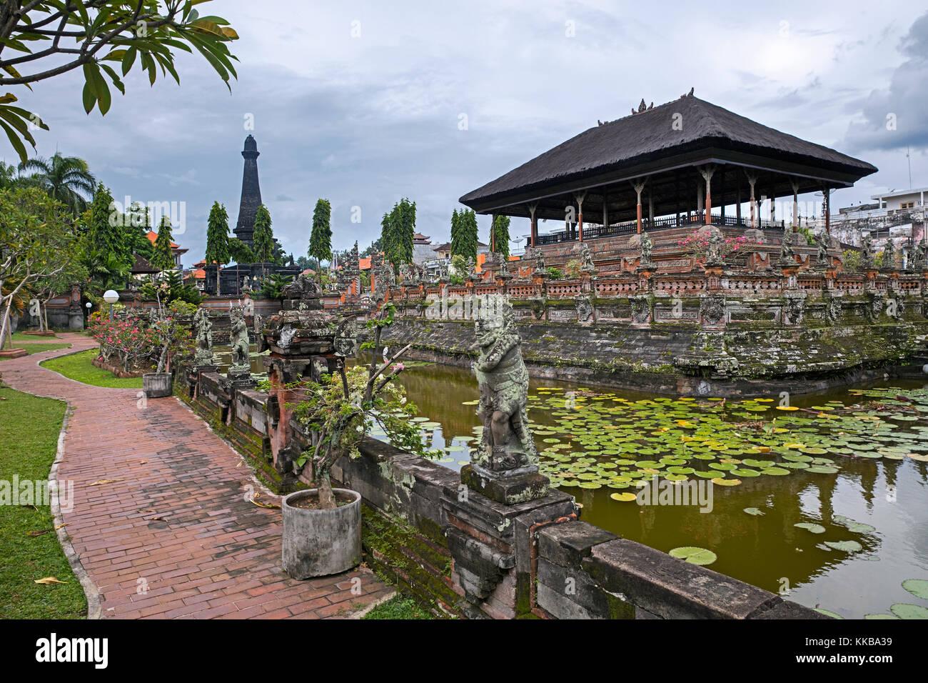 Kertha Gosa Pavilion of Klungkung Palace / Puri Agung Semarapura in the city Semarapura on the island Bali, Indonesia - Stock Image