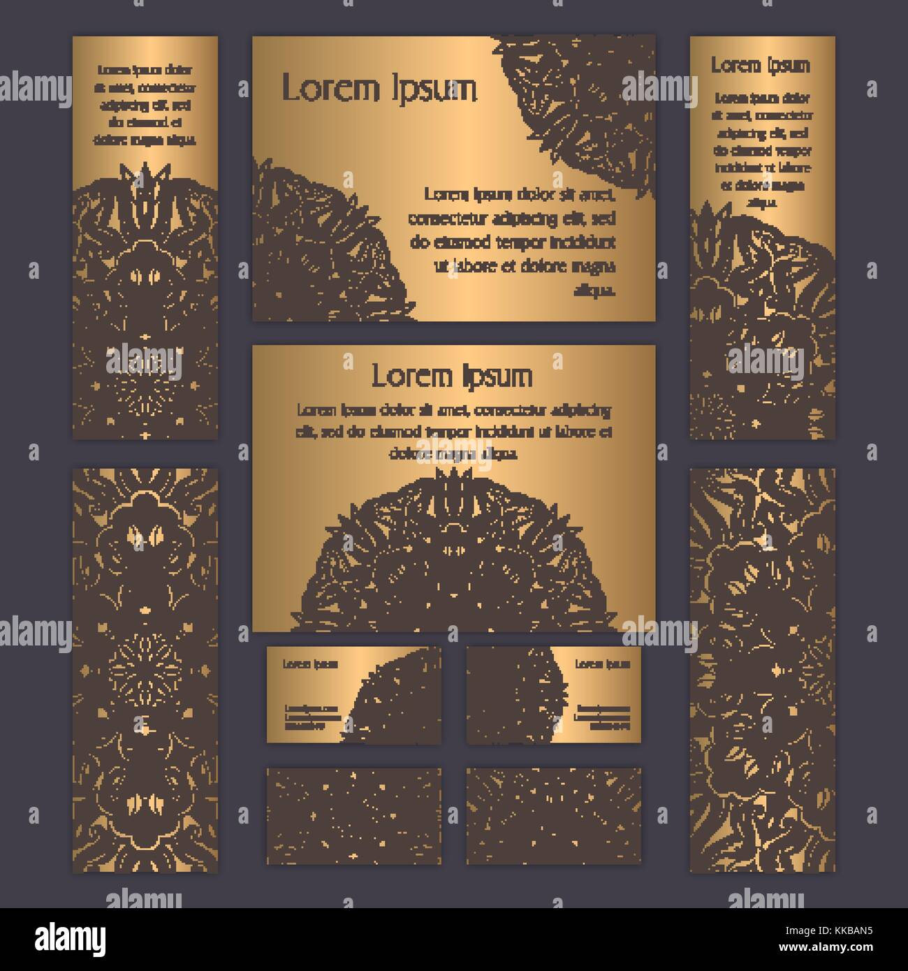 Templates set with business cards invitations and banners floral templates set with business cards invitations and banners floral mandala pattern and ornaments oriental design layout asian arabic indian ottom colourmoves