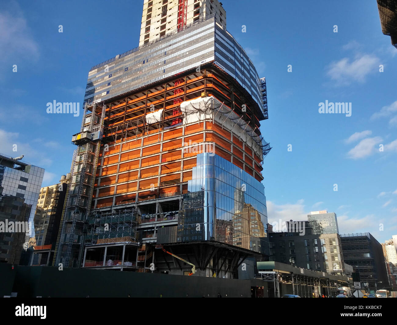 Brookfield's Manhattan West development in New York on Tuesday, November 28, 2017. Navillus, the site contractor, - Stock Image