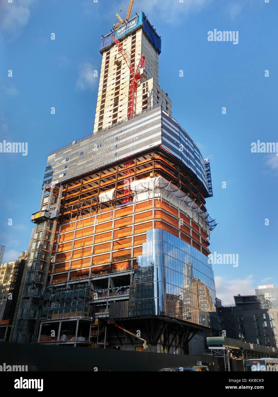 Brookfield's Manhattan West development in New York on Tuesday, November 28, 2017. Navillus, the site contractor, Stock Photo