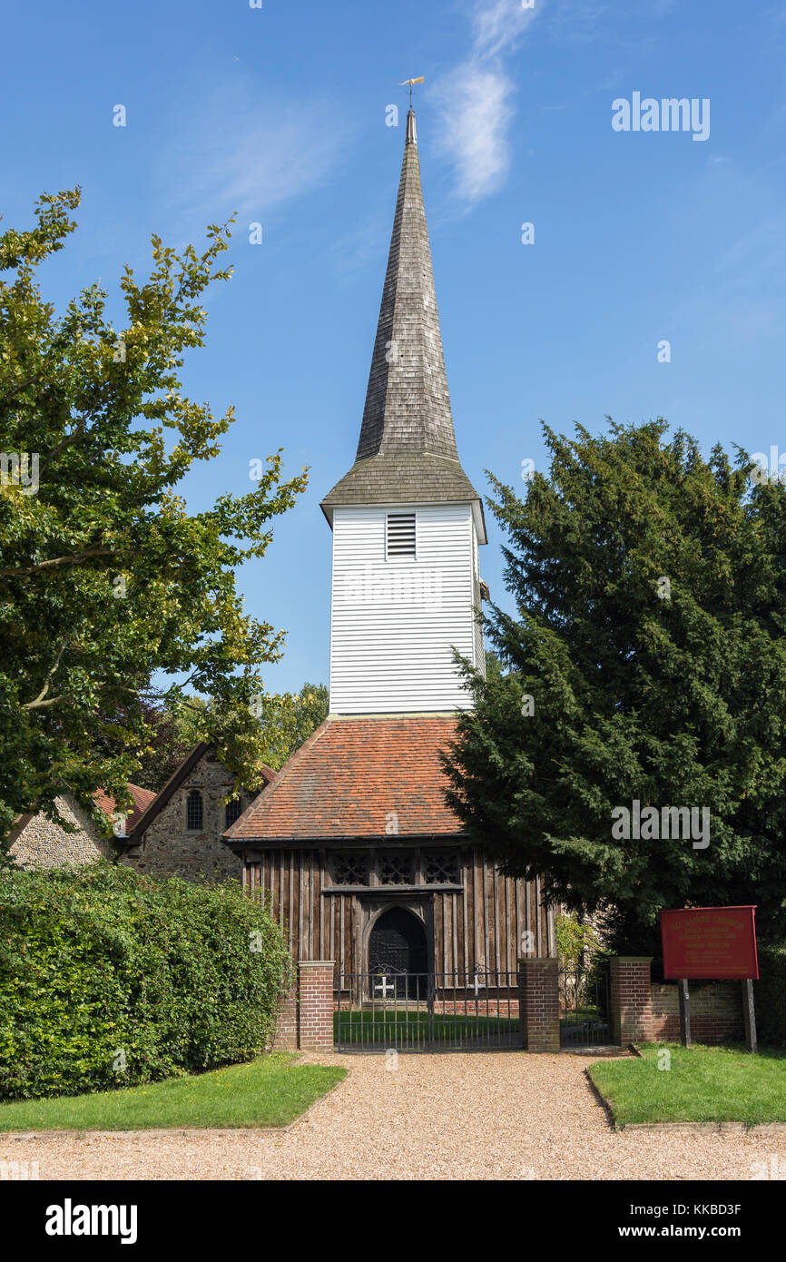 All Saints' Church, Stock Road, Stock, Essex, England, United Kingdom - Stock Image
