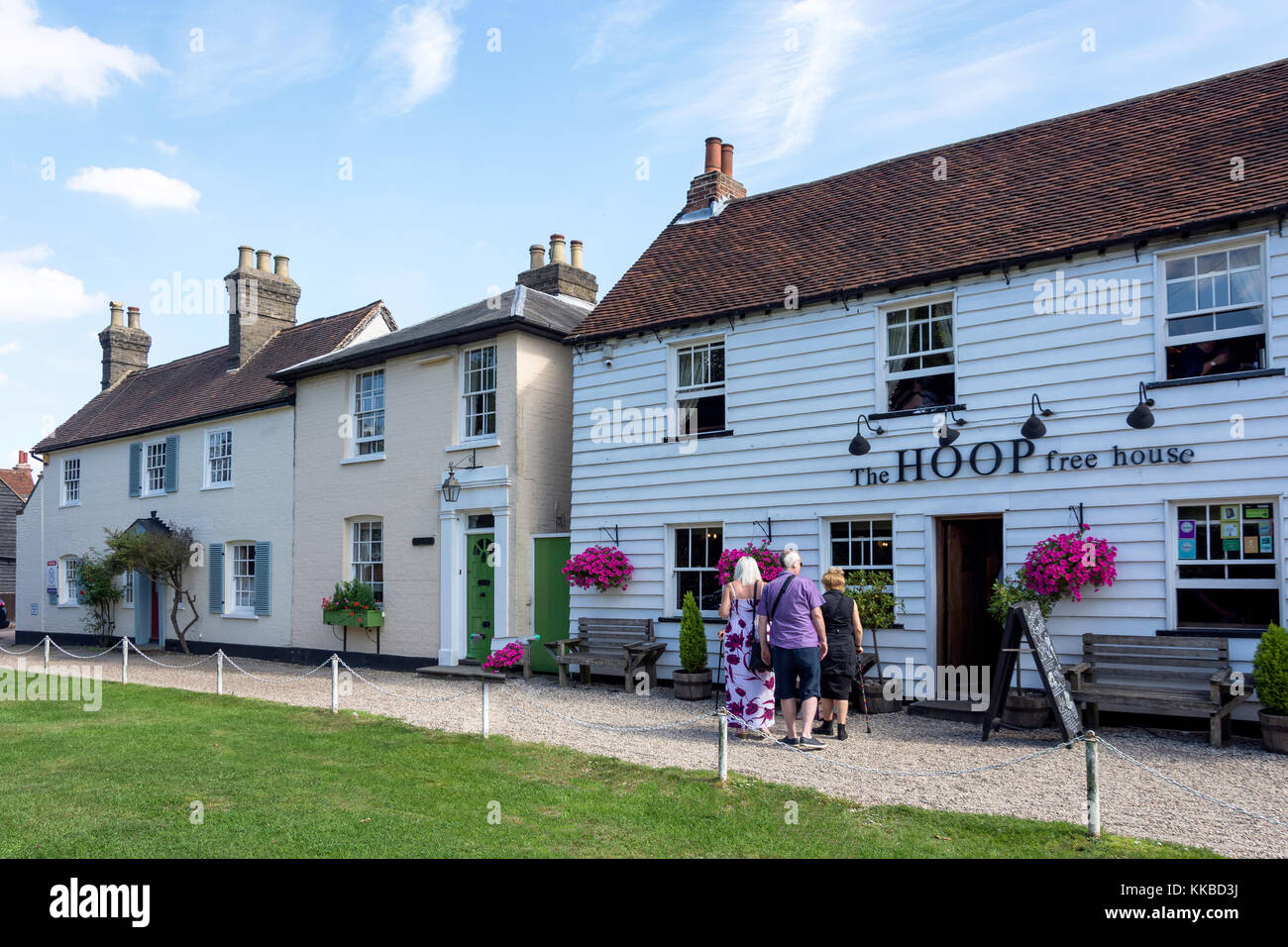 15th century The Hoop free house, High Street, Stock, Essex, England, United Kingdom - Stock Image