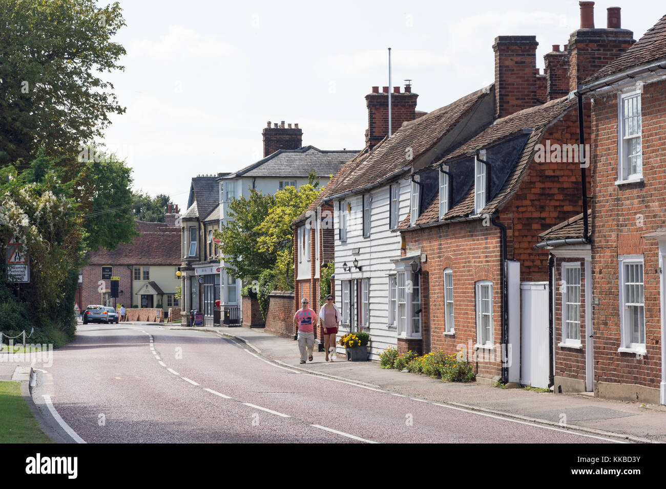 High Street, Stock, Essex, England, United Kingdom - Stock Image