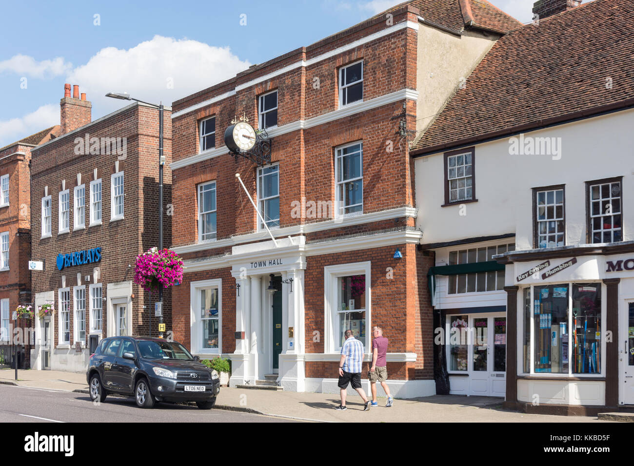 Witham Town Council Local Authority. Town Hall, Newland Street, Witham, Essex, England, United Kingdom - Stock Image