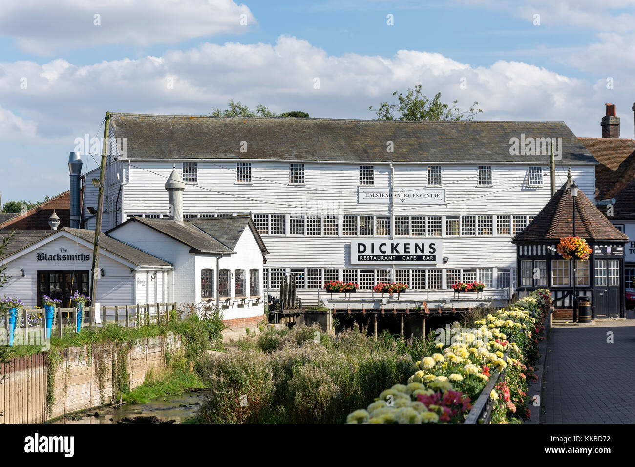 Halstead Antiques Centre, Townsford Mill, The Causeway, Halstead, Essex, England, United Kingdom - Stock Image