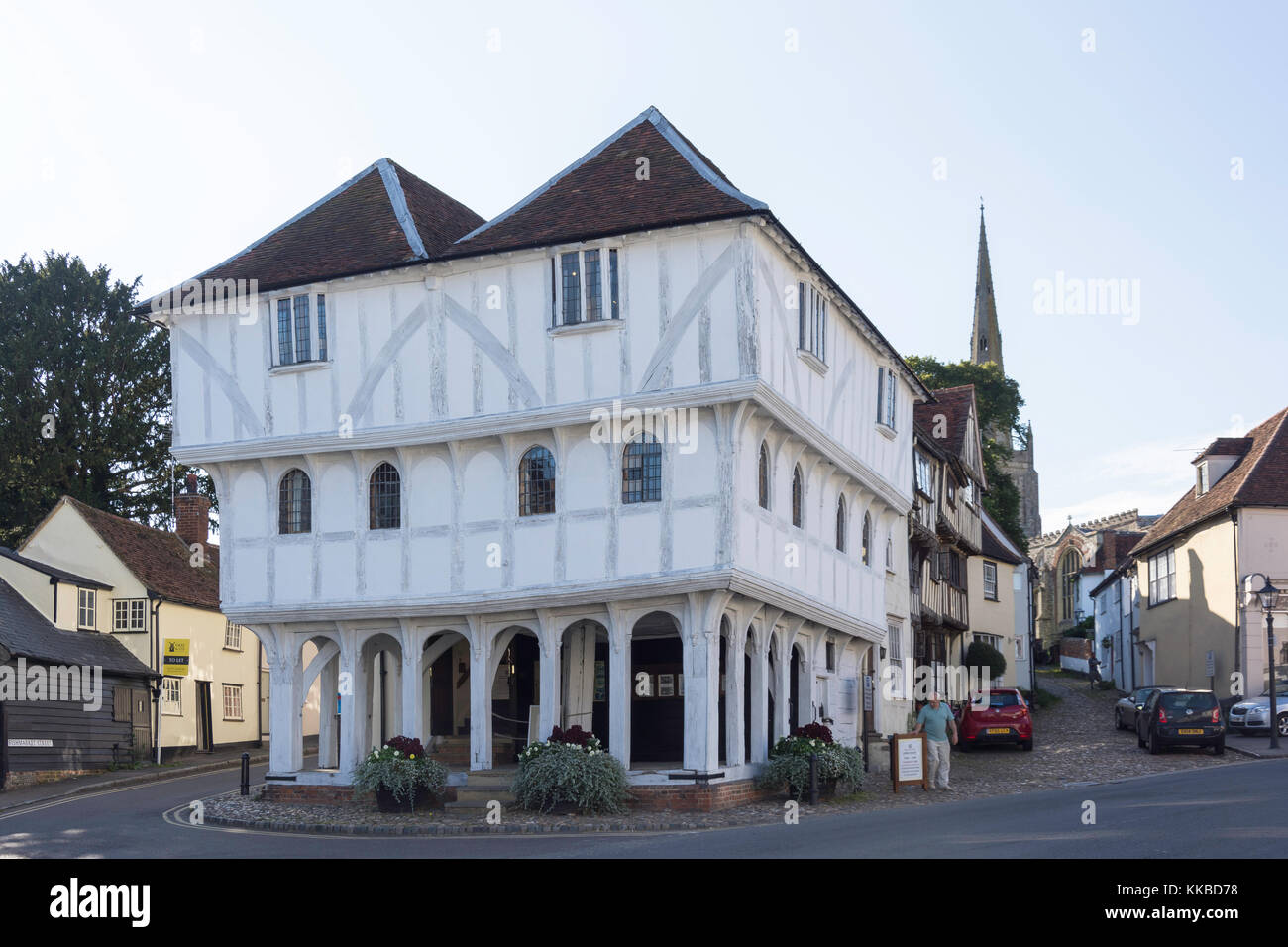 15th century Thaxted Guildhall, Town Street, Thaxted, Essex, England, United Kingdom - Stock Image