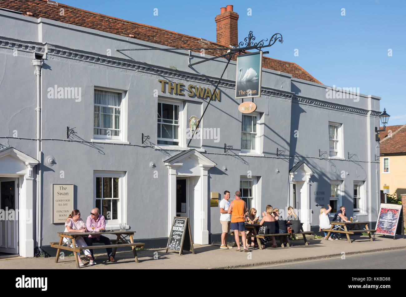 The Swan Hotel, Watling Street, Thaxted, Essex, England, United Kingdom - Stock Image