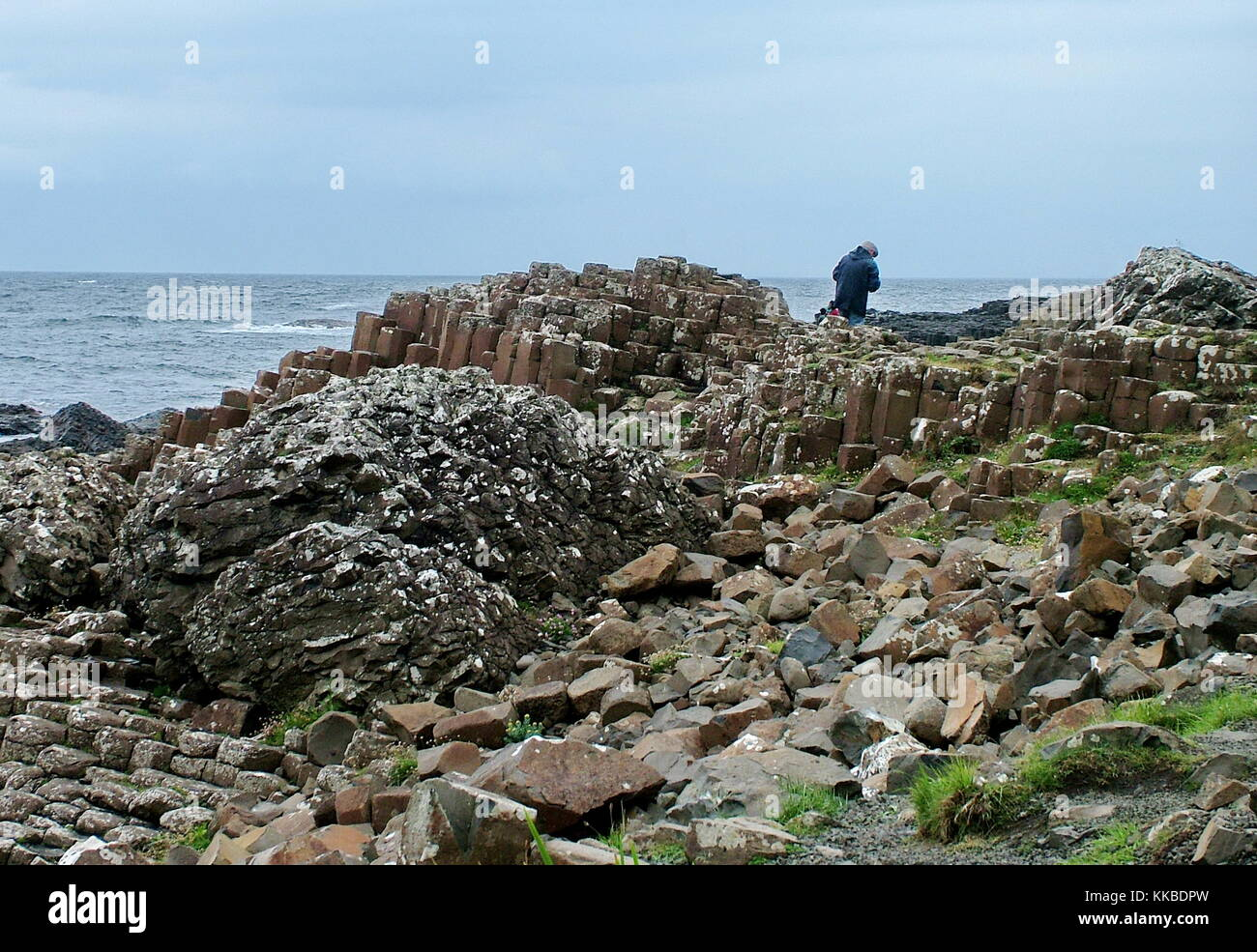 The Giants Causeway, County Antrim, Northern Ireland, United Kingdom - Stock Image