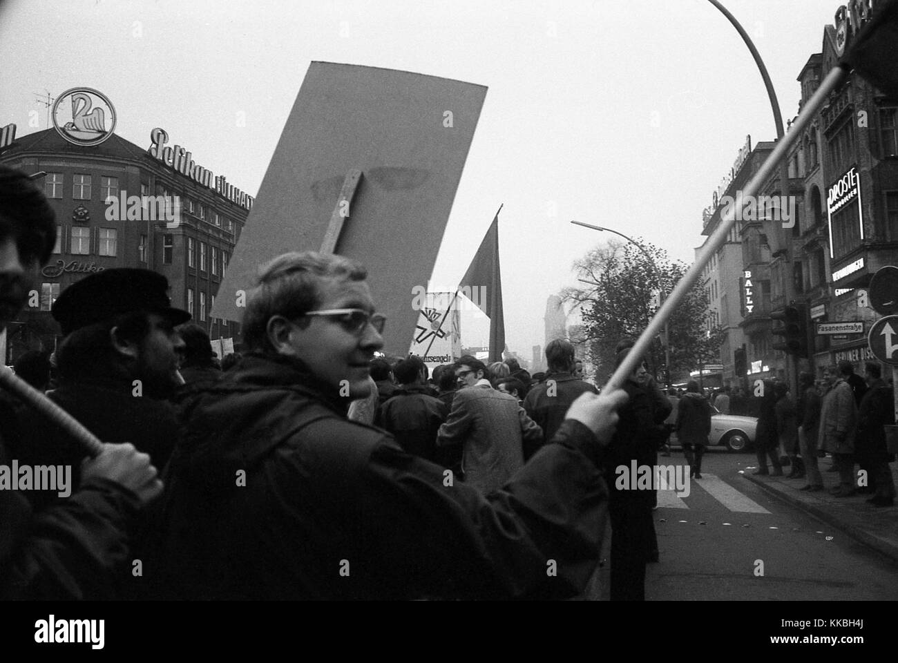 Philippe Gras / Le Pictorium -  Gathering in Berlin in 1968 -  1968  -  Germany / Berlin  -  The German demonstrations - Stock Image