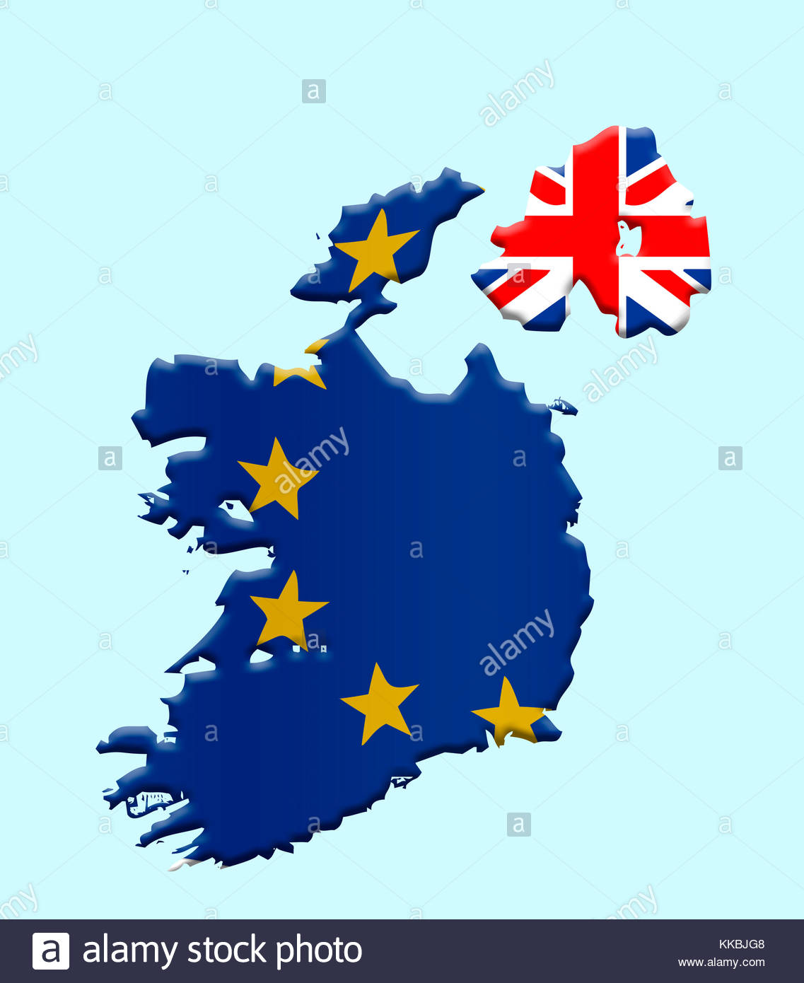 30th November 2017 Digital Illustration. With Brexit talks continuing the large hurdle which is the Irish border - Stock Image