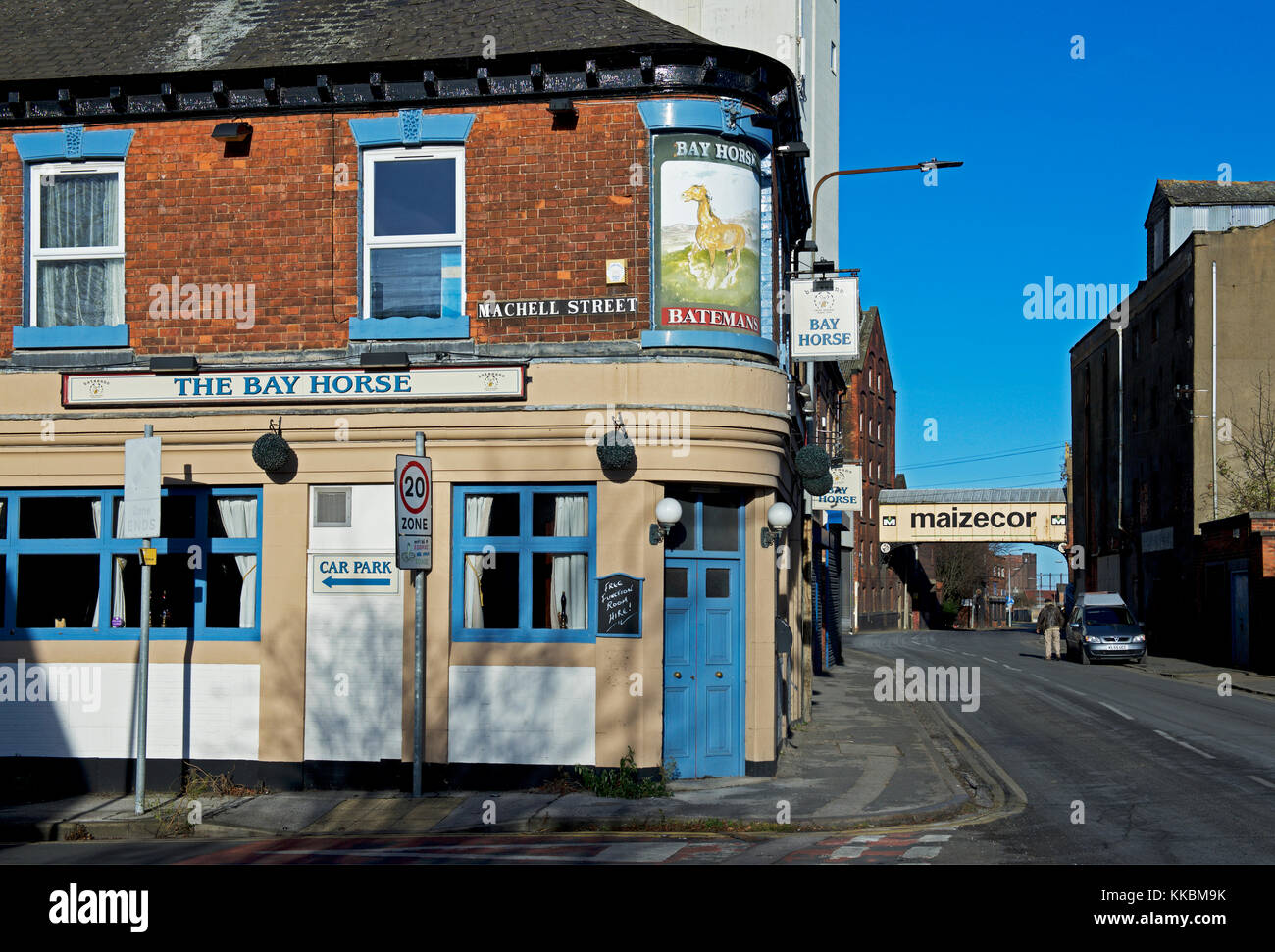 The Bay Horse pub, now closed, Hull, Humberside, East Yorkshire, England UK - Stock Image