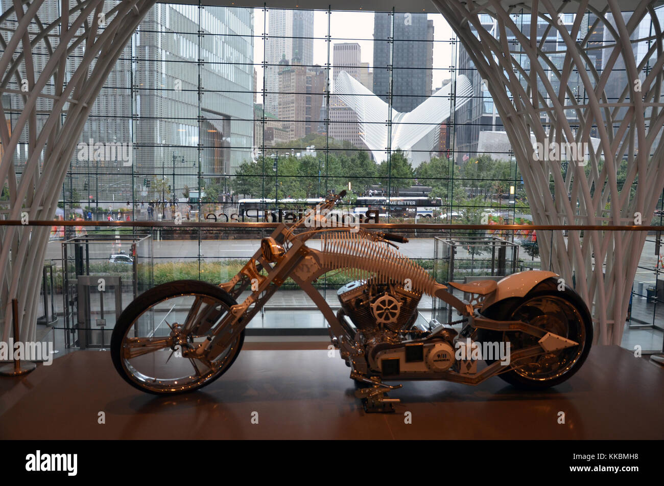 A 9/11 Memorial Chopper Is On Display At Brookfield Place, At The Top