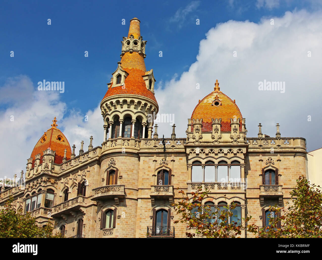 Cases Pons in Barcelona, Spain. Was built in 1890-1891 by Catalan architect Enric Sagnier - Stock Image