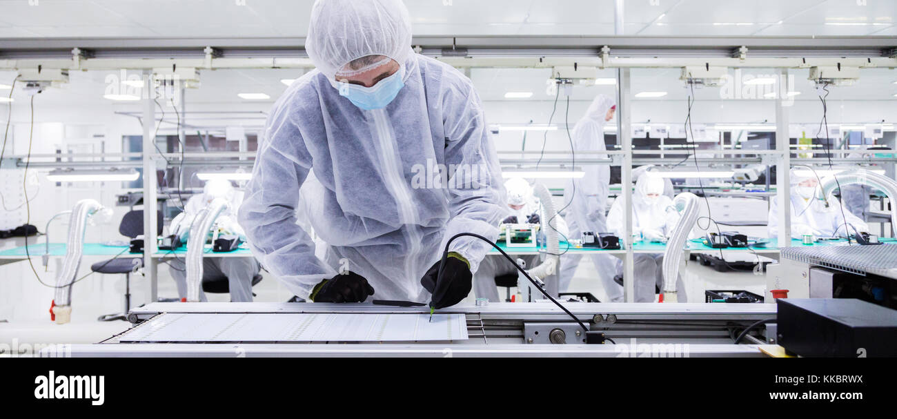 manufacturing of television sets - Stock Image