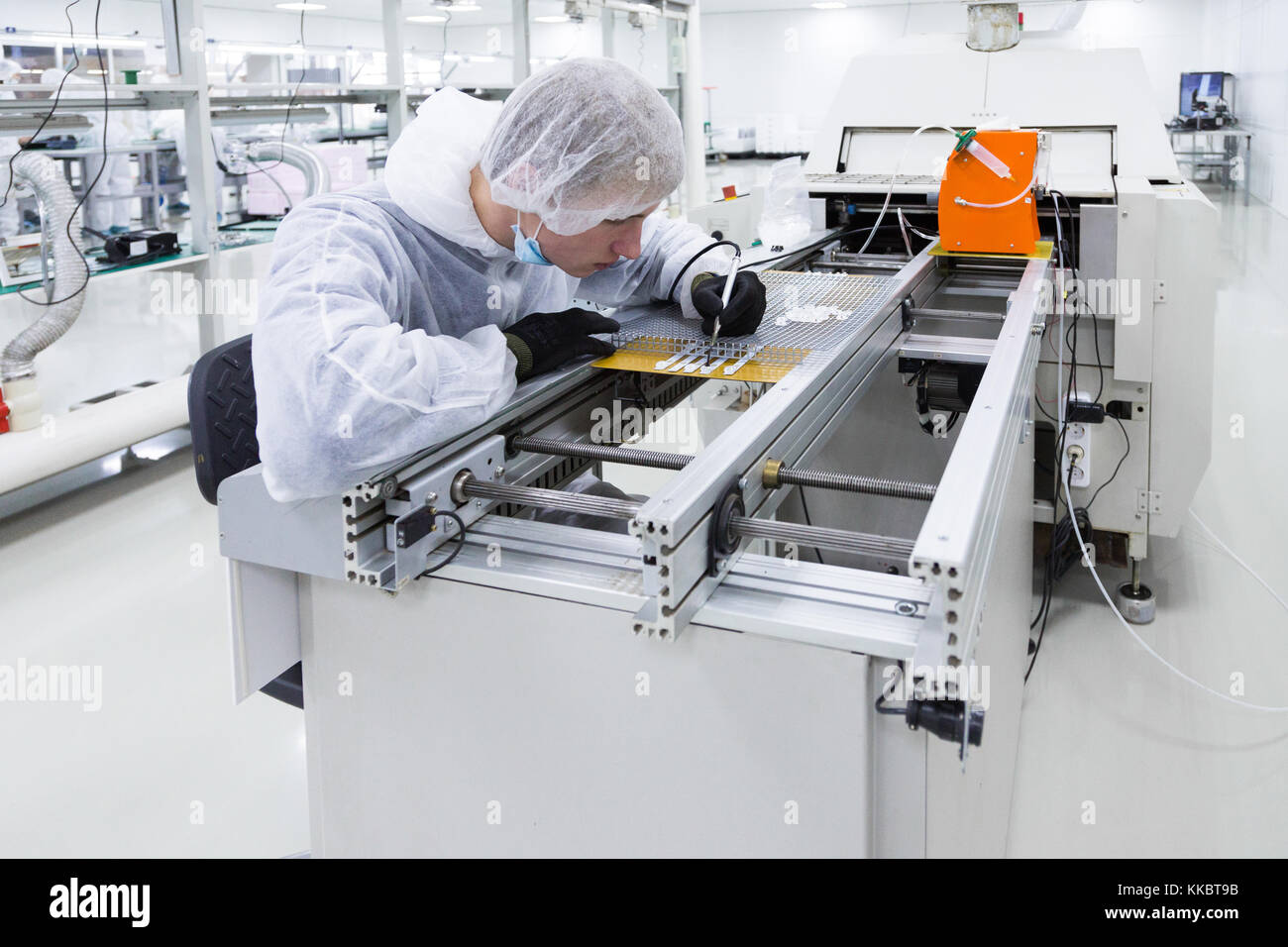 production of television sets - Stock Image