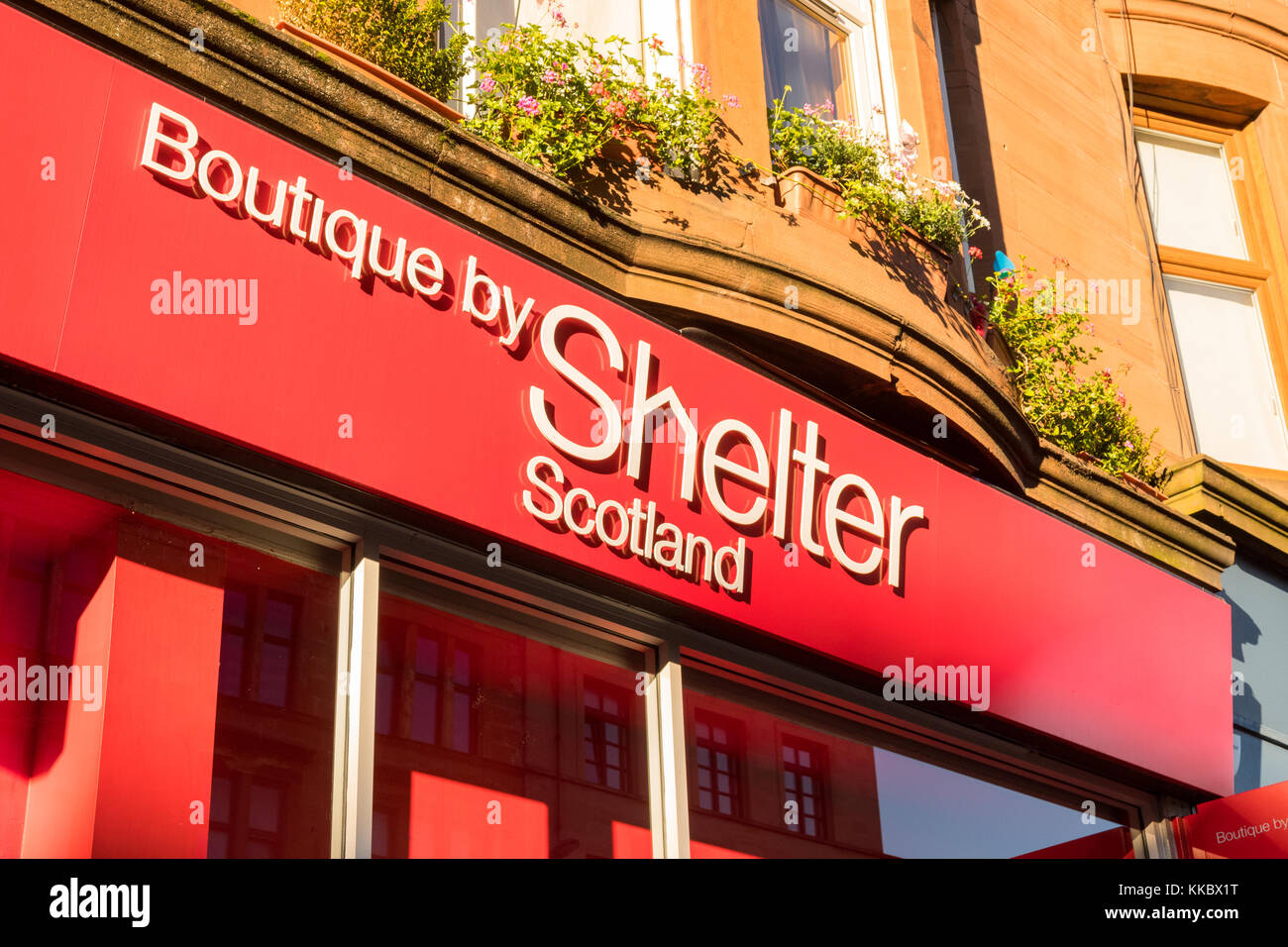 Boutique by Shelter Scotland shop on Byres Road, Glasgow, Scotland, UK - Stock Image