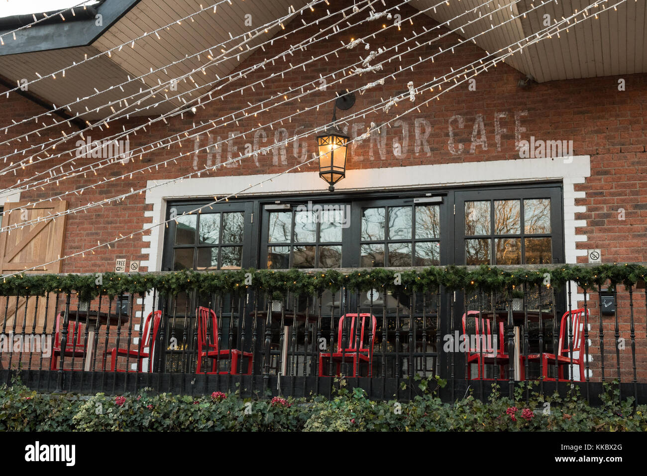 The Grosvenor Cafe, Ashton Lane, Glasgow, Scotland, UK - Stock Image