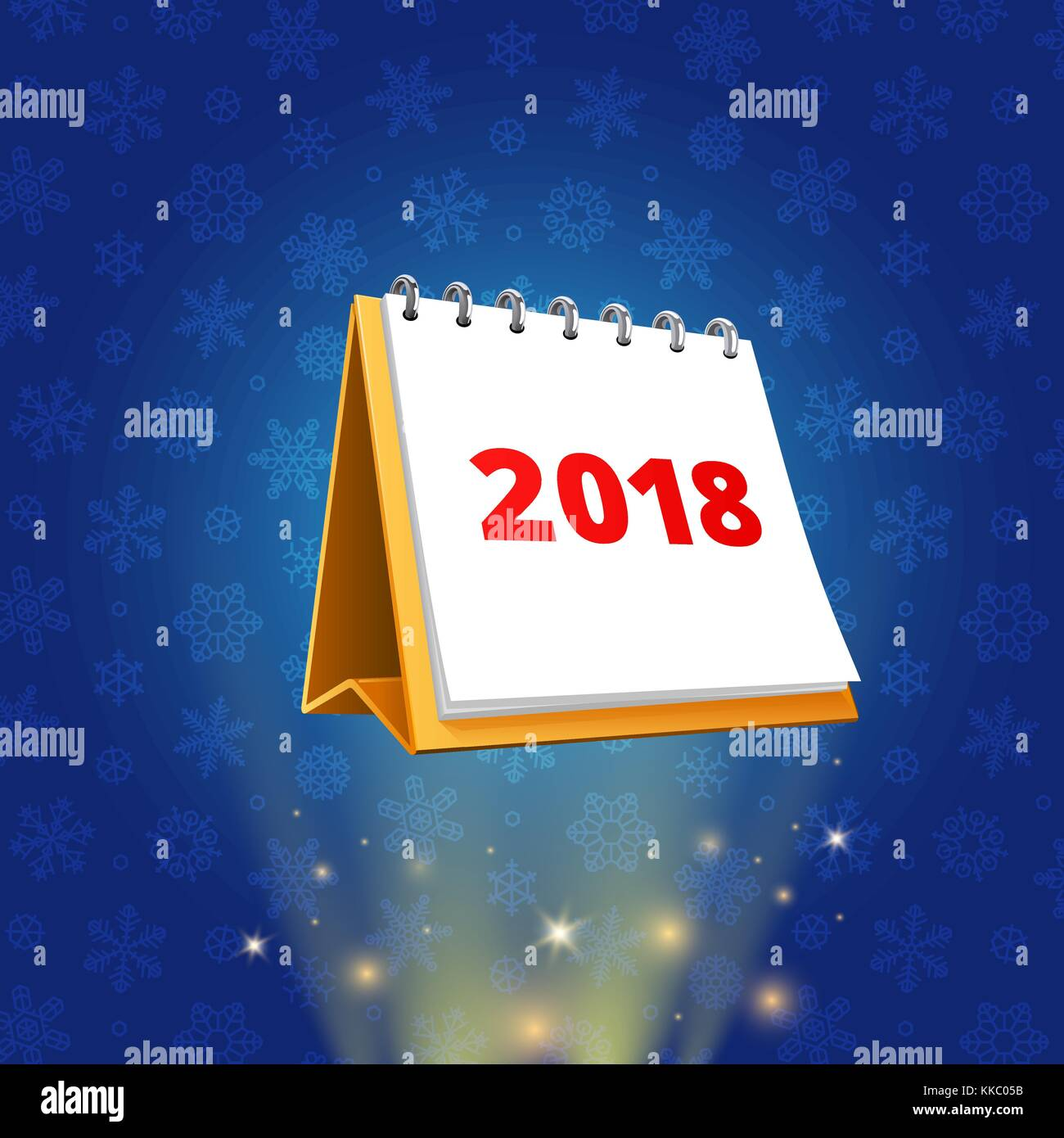 flip flop 2018 calendar vector stock vector