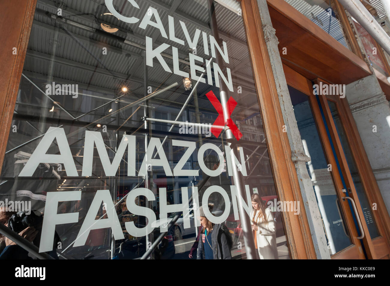 61726b4513913 The Calvin Klein + Amazon Fashion collaboration pop-up store in Soho in New  York on Saturday