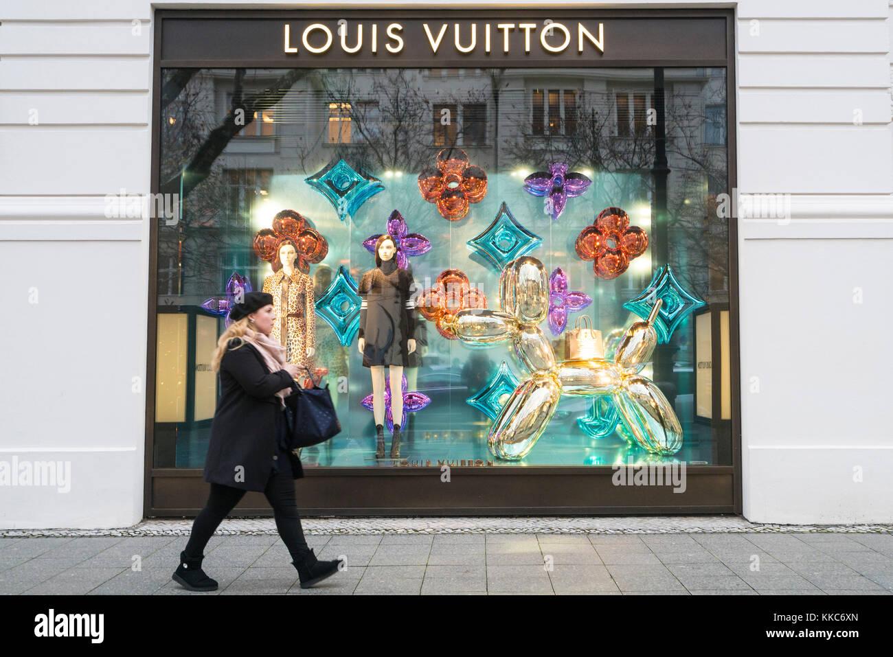 9abab344a8e0d Louis Vuitton boutique on famous shopping street Kurfurstendamm ...