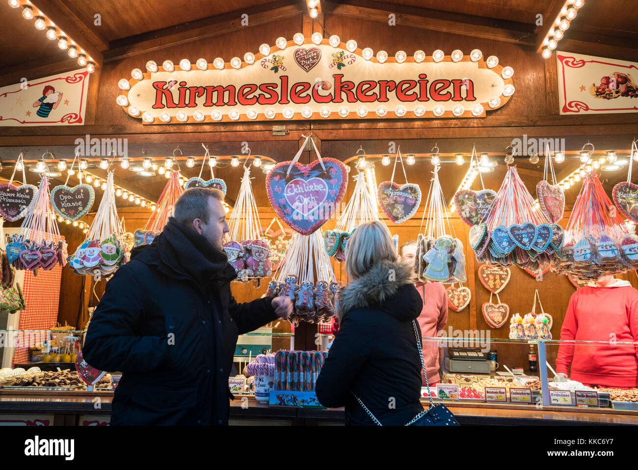 Traditional Christmas Market at Alexanderplatz in Berlin in 2017 in Germany - Stock Image