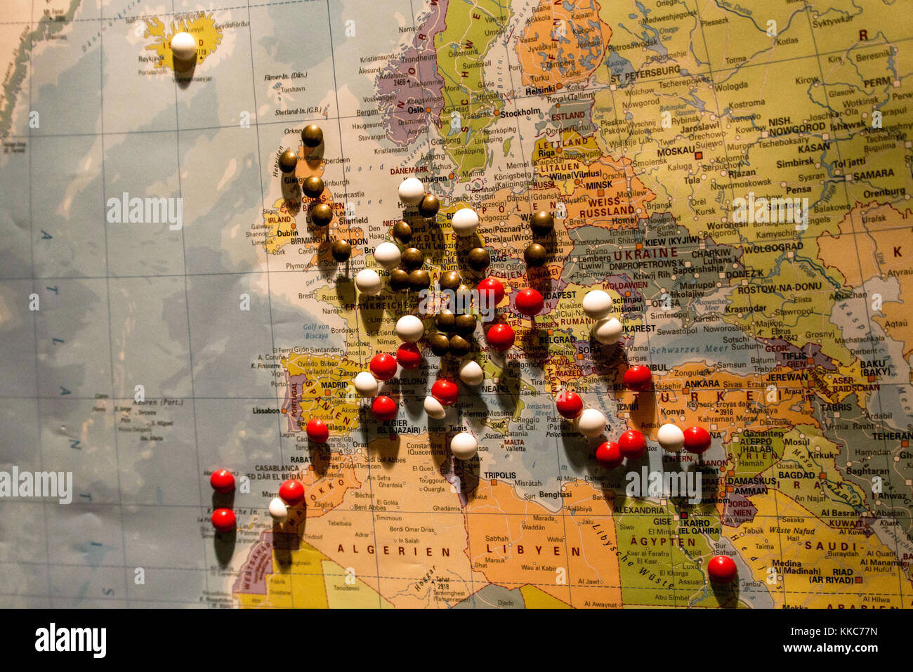 Continent Map Pin Stock Photos Continent Map Pin Stock Images