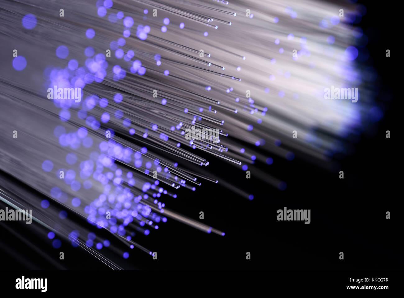 Fibre broadband, glass fibre - Stock Image