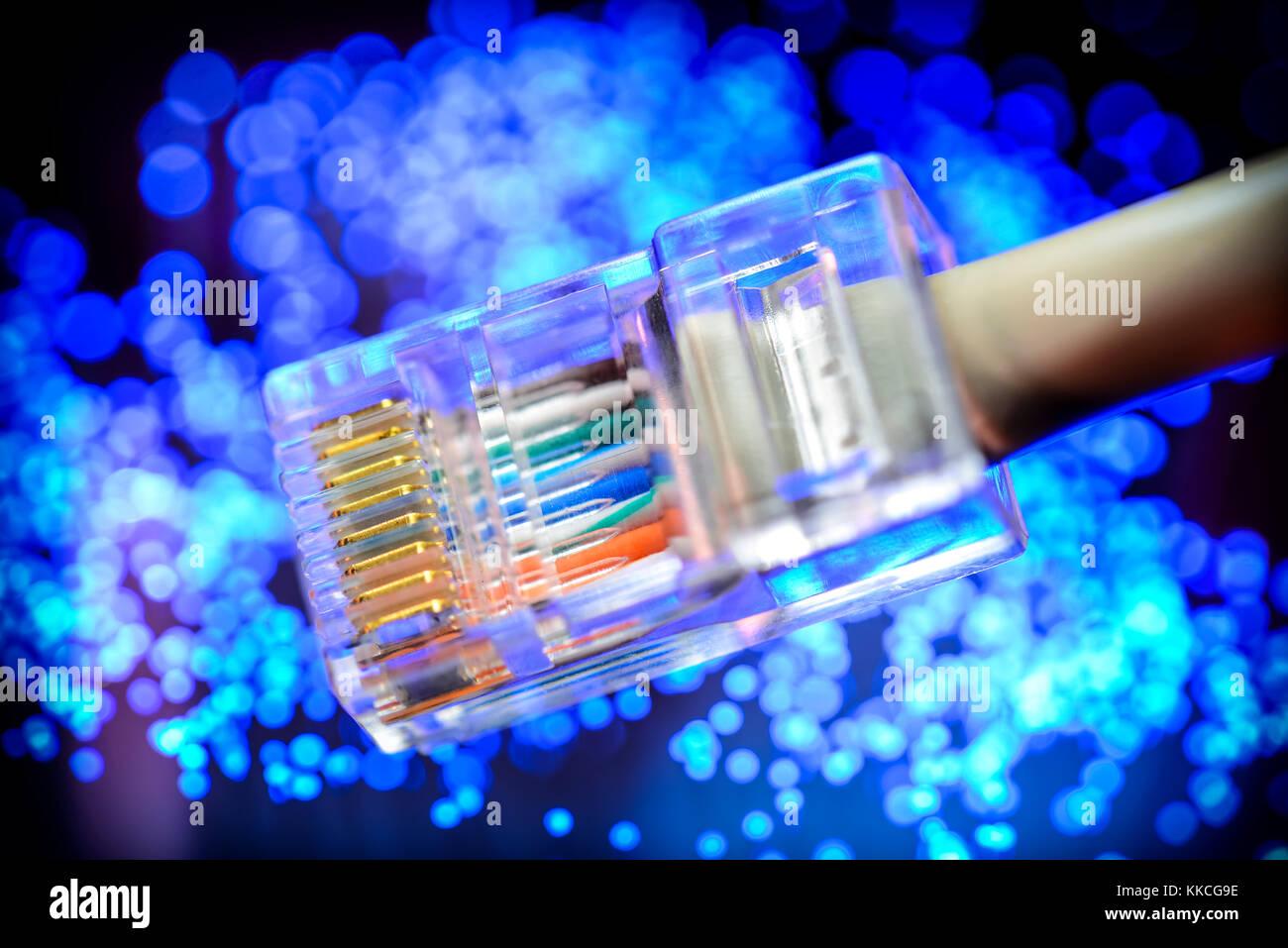 Fibre Optic Cable Broadband Stock Photos Amp Fibre Optic