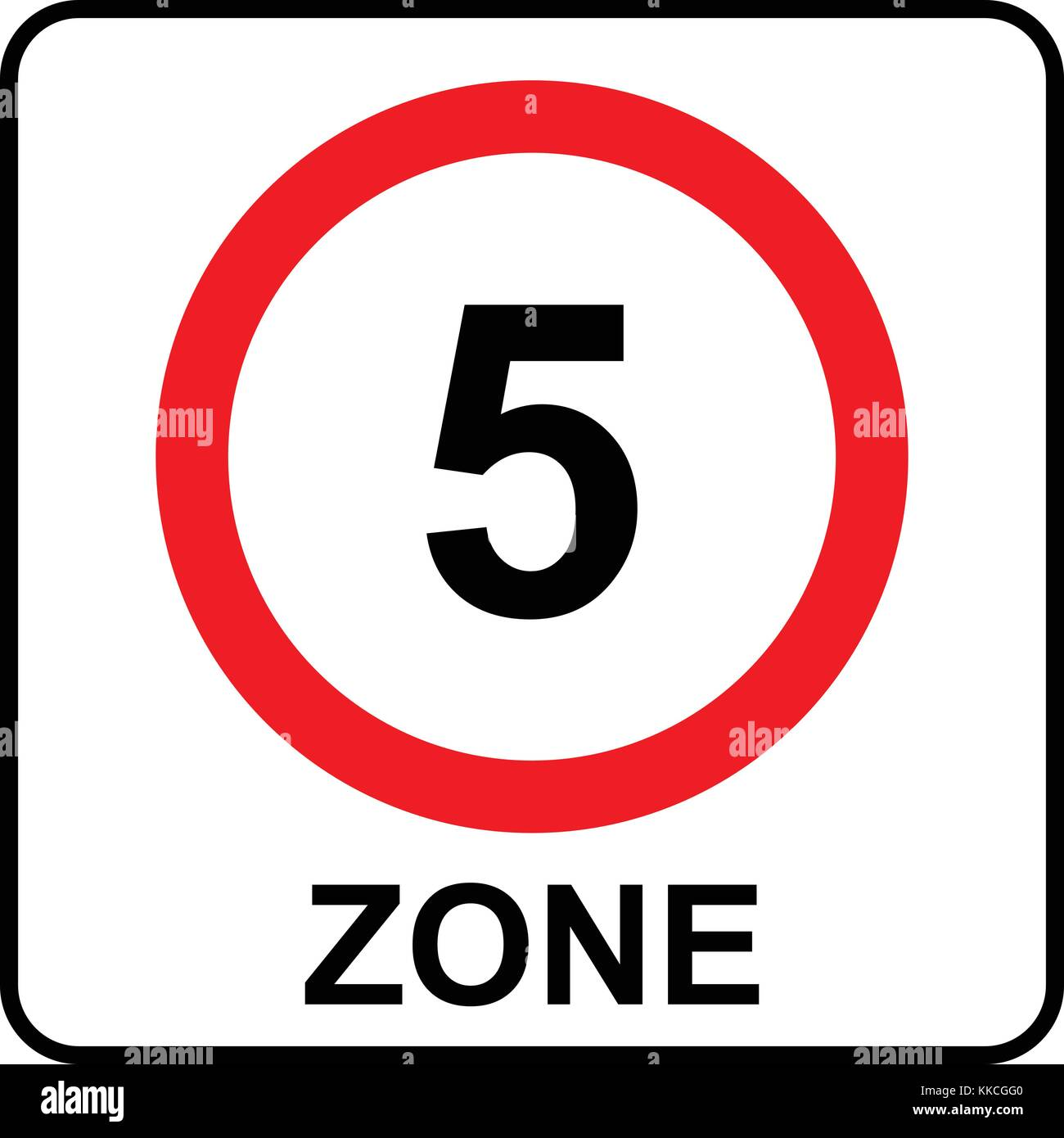 VARIOUS SIGN /& STICKER OPTIONS 5KPH SIGN SHARED ZONE SPEED LIMIT 5 KPH SIGN