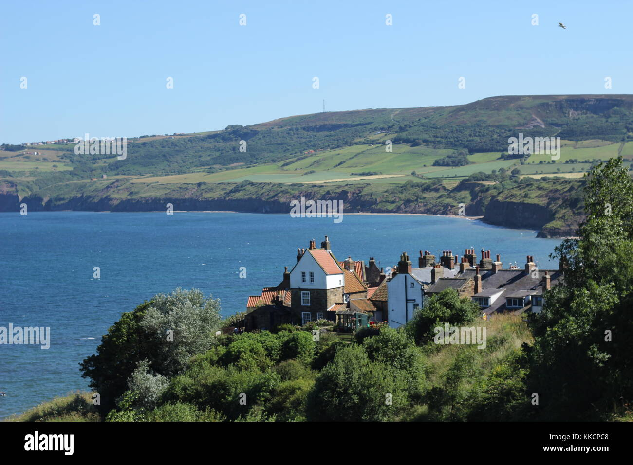 Robin Hood's Bay, North Yorkshire, day trip destination for tourists. UK Stock Photo