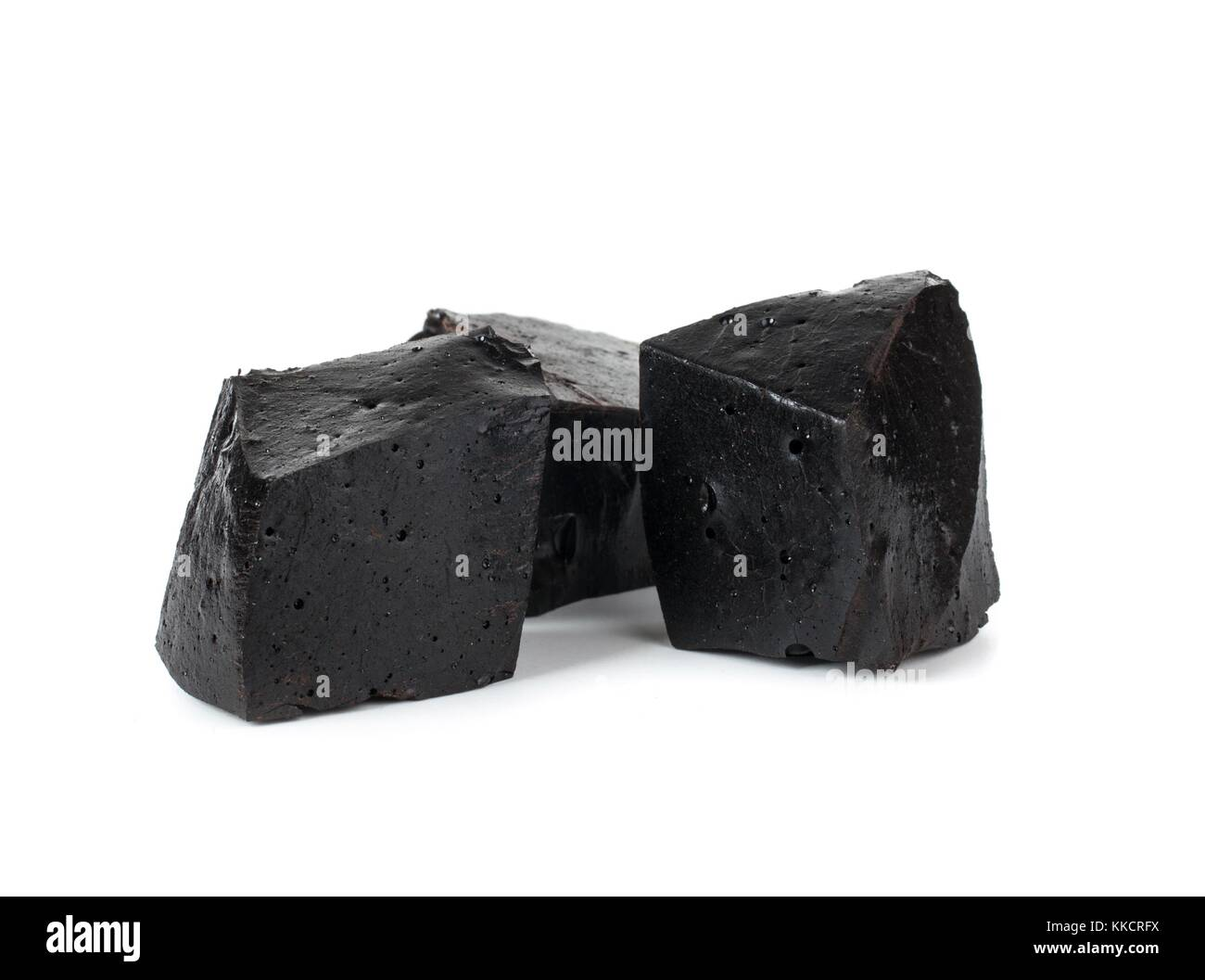 Pure blocks of licorice - Stock Image