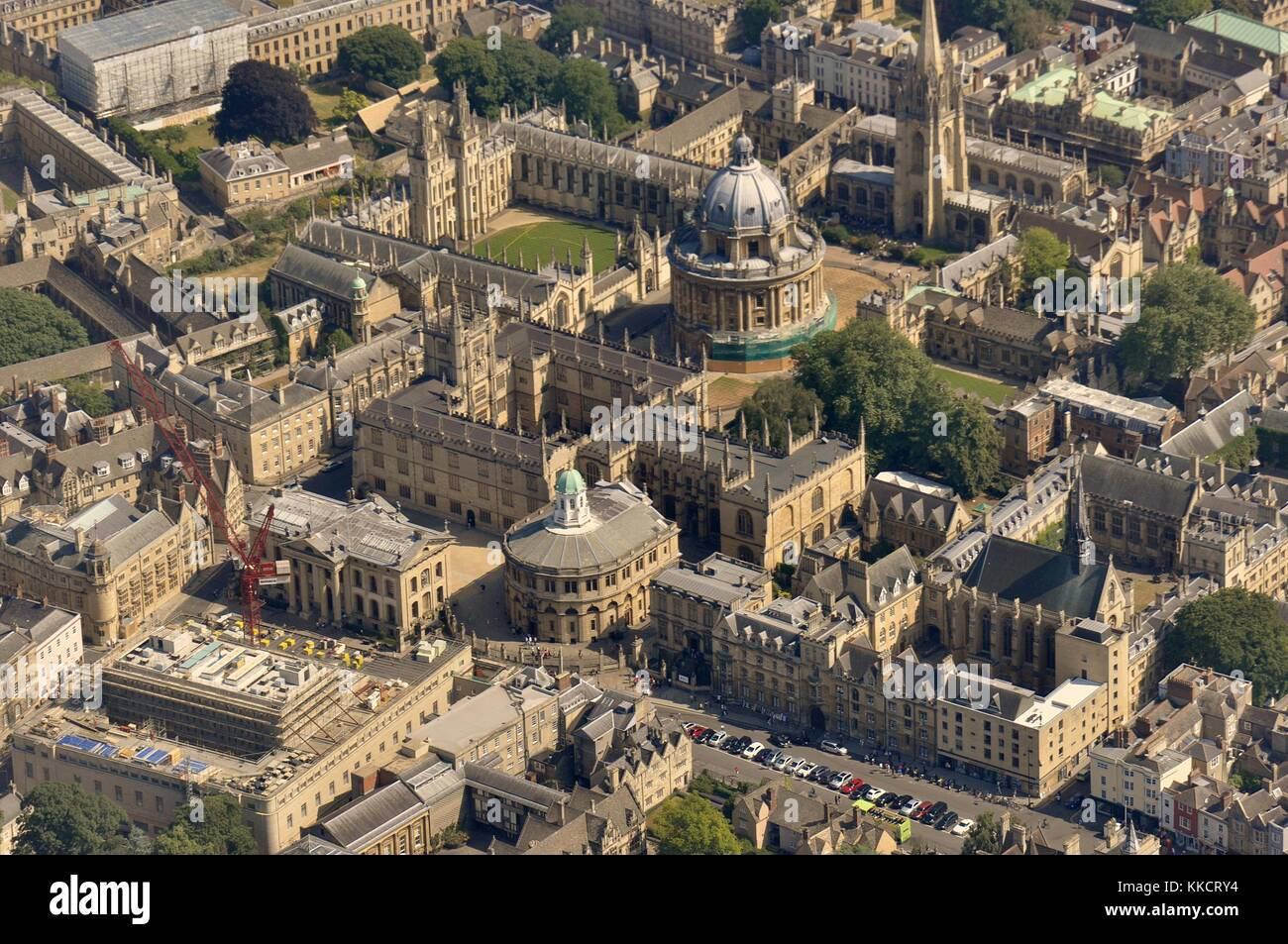 Oxford From The Air Stock Photo