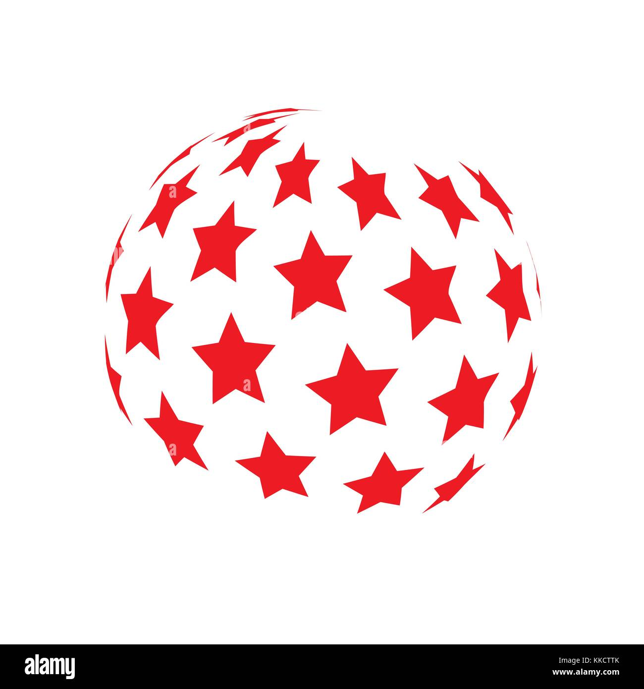 Vector spheres. There are many stars on the sphere. Abstract technical illustration. 3 D object - Stock Vector