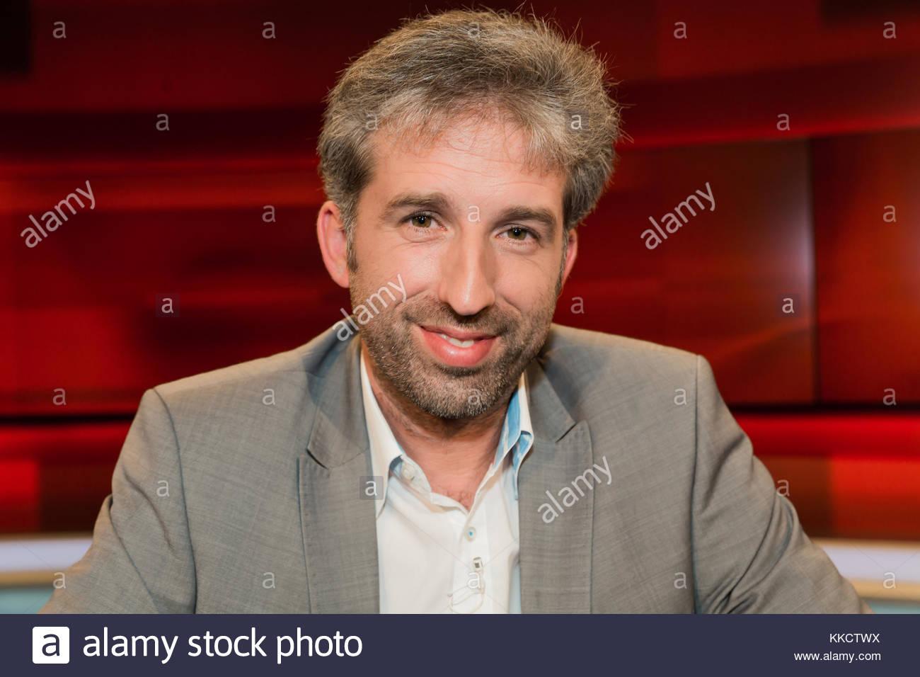 """Boris Palmer - Buendnis90/Die Gruenen, Oberbuergermeister von Tuebingen im Fernsehstudio bei """"Hart aber fair"""" im - Stock Image"""