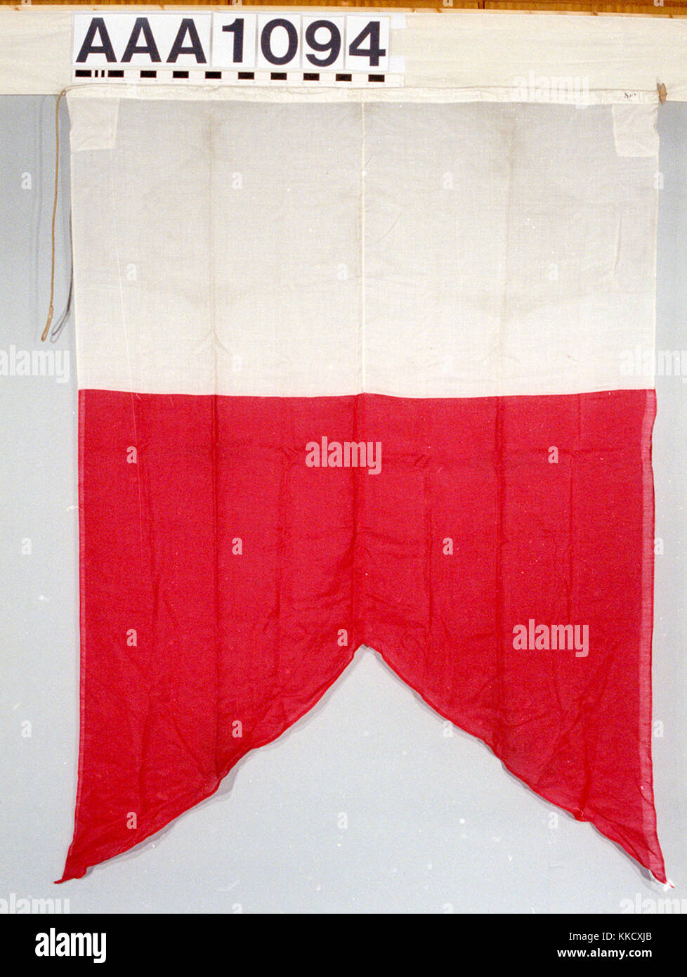 The house flag of H. Fernie & Sons, Liverpool.  The flag is made of wool bunting, machine sewn with a linen - Stock Image