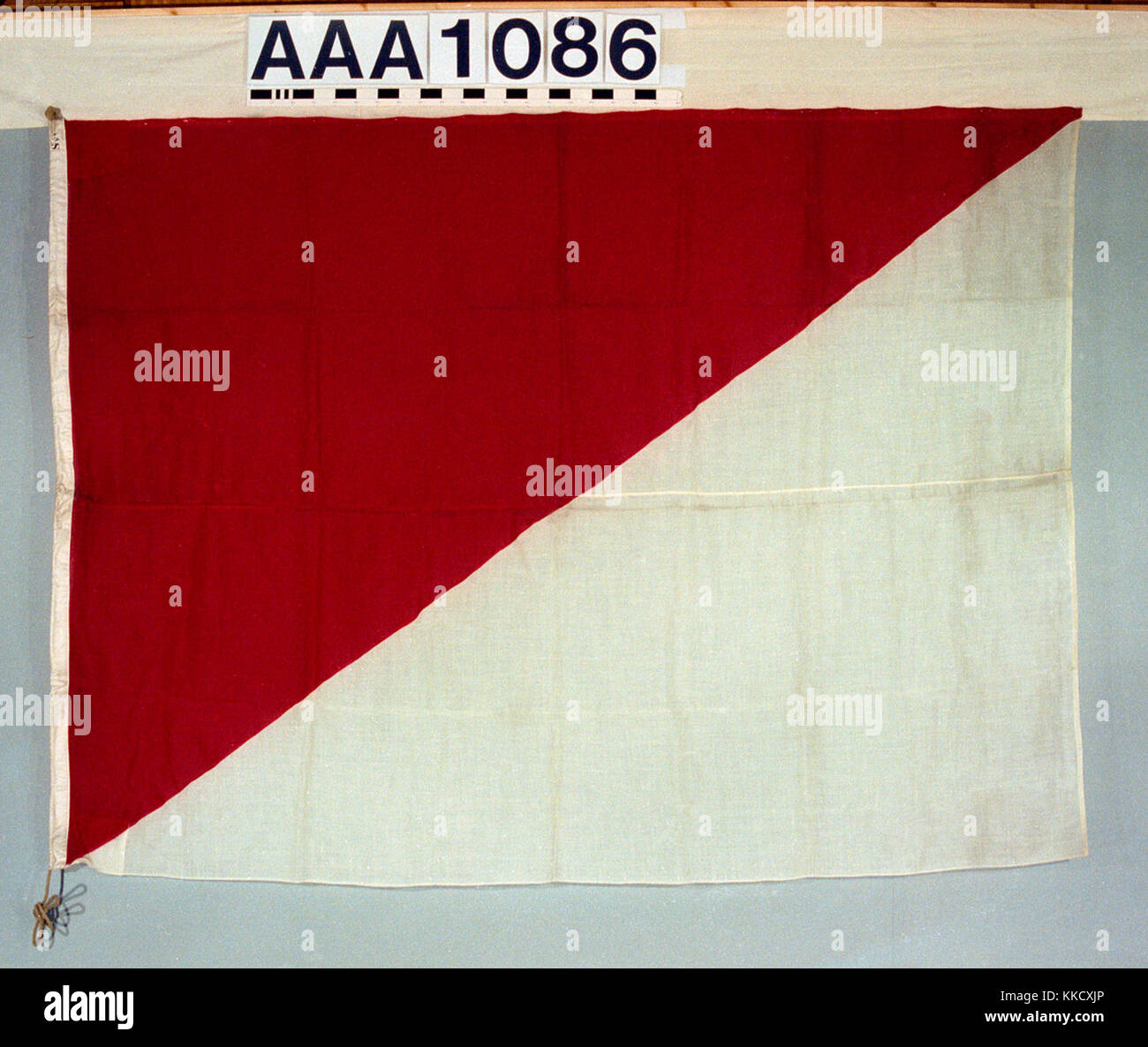 The house flag of Watson Brothers, Glasgow. The flag is made of wool bunting, machine sewn with a linen hoist.  - Stock Image